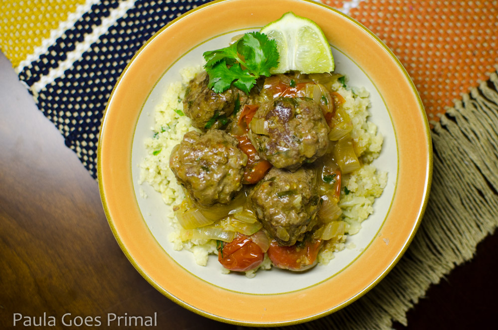Whole30 Thai Curry Meatballs