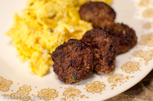 Whole30 Breakfast Sausage Patties with Bison