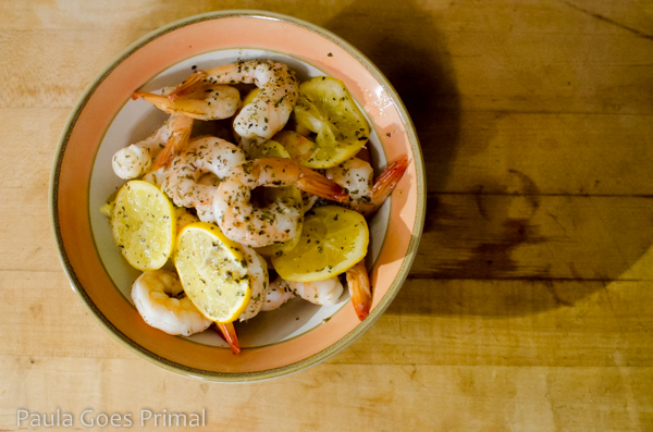 Easy Whole30 Lemon Ghee Shrimp with Herbs